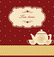 Cute polka dot brown tea time background print vector image