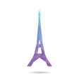 Eiffel Tower abstract isolated vector image