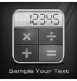 Pocket calculator on black vector image