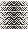 Seamless Black And White Chevron Geometric vector image