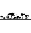 silhouette of safari animal wildlife vector image