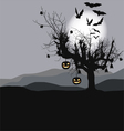 Halloween background - scary tree vector image vector image