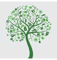 green tree with ecological icons vector image vector image