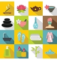 Spa treatments icons set flat style vector image