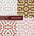 Set of retro patterns vector image vector image