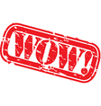 Wow Stamp vector image vector image