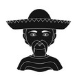 mexicanhuman race single icon in black style vector image