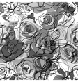 Seamless monochrome floral background vector image vector image