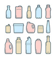 Beverage container icons vector image
