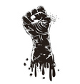 grungy fist power vector image