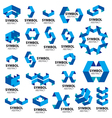 biggest collection of logos of geometric modules vector image vector image