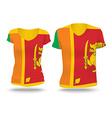 Flag shirt design of Sri Lanka vector image