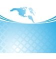 blue card template - world vector image vector image