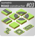 Isometric road constructor - 03 vector image
