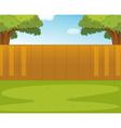 Back yard vector image