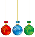 Christmas balls on chain vector image