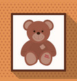cute teddy bear baby shower vector image