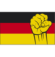 Germany glag with fist vector image