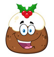 happy christmas pudding vector image