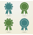 Set of empty badges with ribbons Set of empty vector image