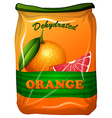 Dehydrated orange in bag vector image