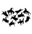 Rodeo Silhouettes vector image