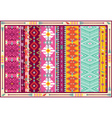 Seamless colorful aztec carpet with birds vector image vector image