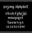 pajang alphabet typography vector image vector image