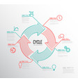 infographic cycle template vector image vector image