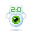 Cartoon Cyber Eye vector image