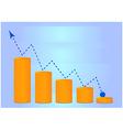 Money grow chart vector image