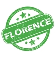 Florence green stamp vector image