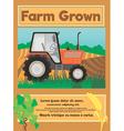 Farm grown vector image