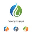 wave water droplet element icons business logo vector image