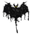 Bat ink Happy Halloween vector image