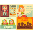 Cinema Posters Set vector image