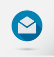letter icon in flat style vector image