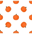 Seamless background with pumpkins vector image