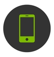 Smartphone flat eco green and gray colors round vector image