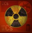 warning radiation hazard molecule of cesium 137 vector image