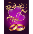wedding ring vector image
