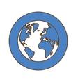 world web technical service icon vector image