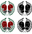 Set of boxer gloves stencils vector image
