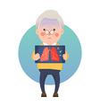 Senior Man Having Inflammation Lung vector image