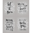 Set of hand calligraphic winter holidays quotes vector image