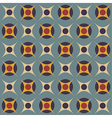 Geometrical pattern in retro colors vector image