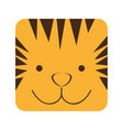 yellow square tiger animal face expression vector image
