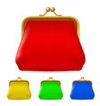 colorful purses on white background for design vector image vector image