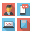 white background with business icons profiles vector image