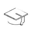 graduation cap accessory education success symbol vector image